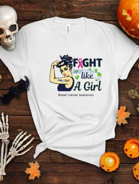 Patriots fight like a girl Breast Cancer shirt